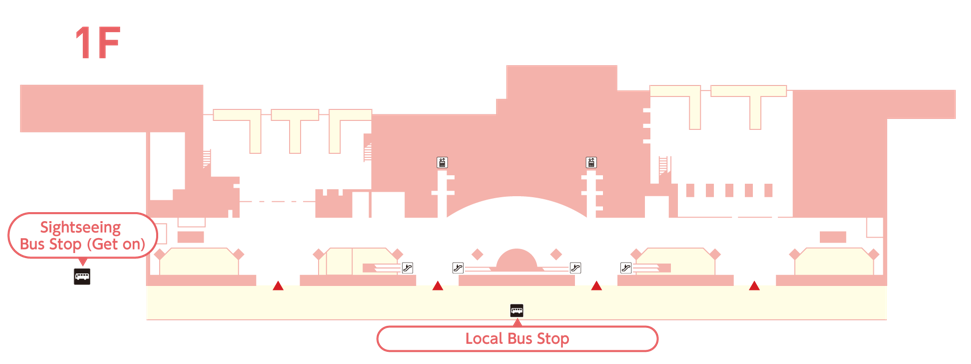 Bus Stop Information of Local and Sightseeing Buses