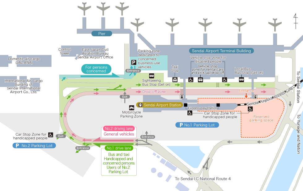 Map of Sendai Airport premises
