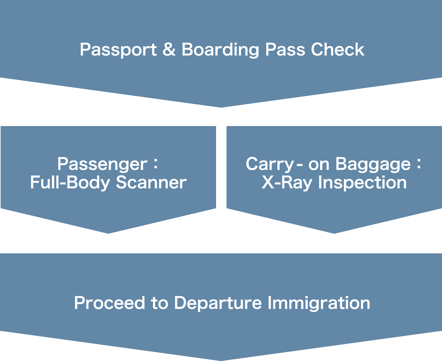 Security Screening Procedures for International Passengers