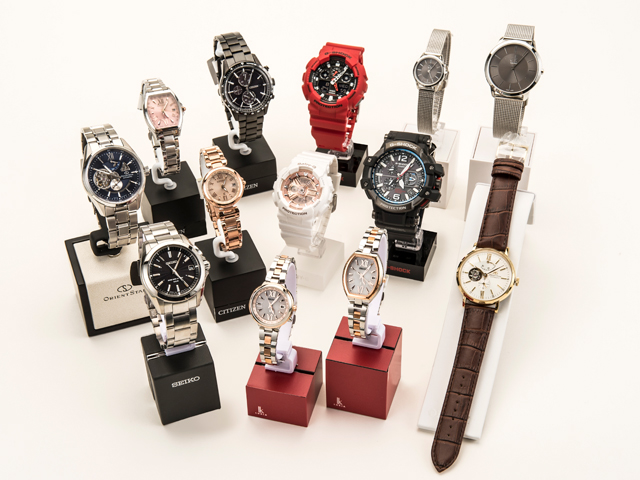 Various wrist watches