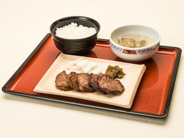 Ox Tongue Meal (Sendai's Specialty)