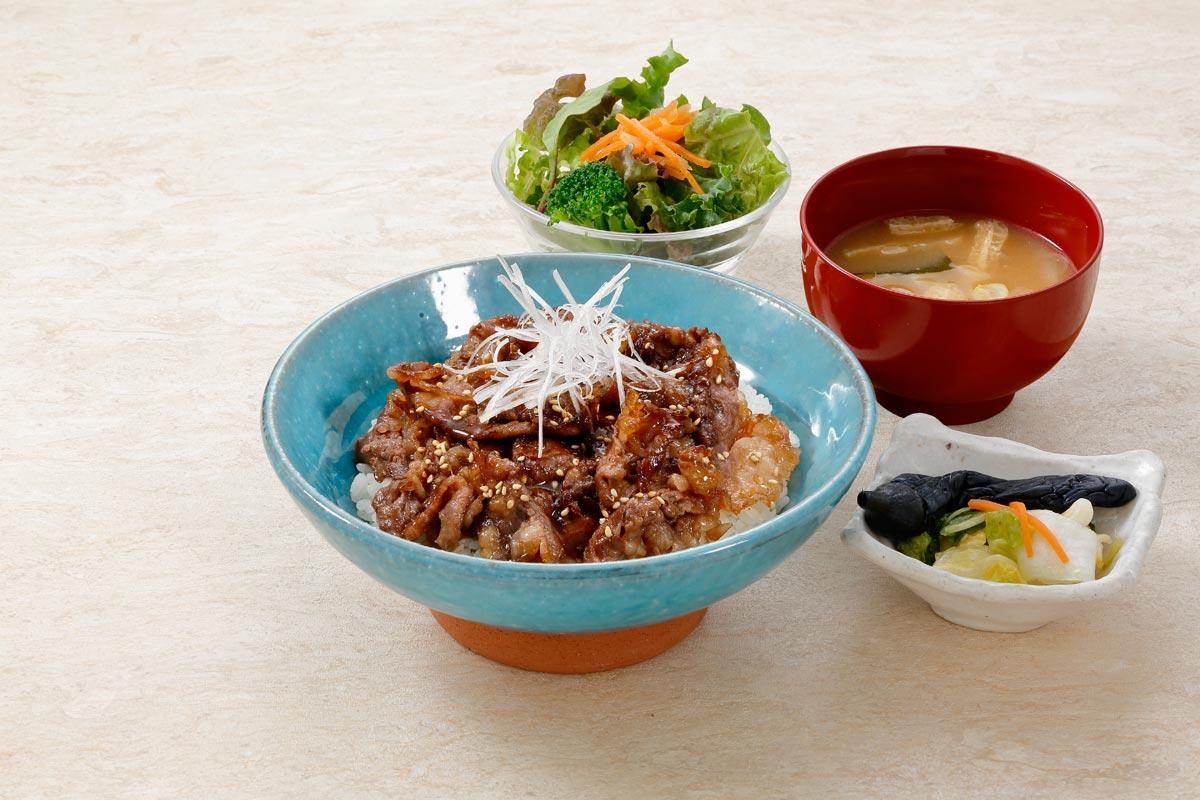 Grilled Sendai beef & rice bowl