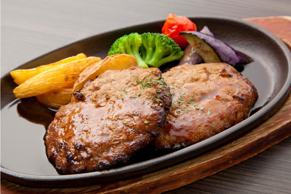 100% Sendai beef hamburg steak 120g×2 pieces