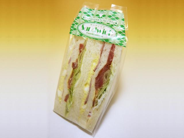 베이컨 양상추 샌드위치 270엔(세금 포함)