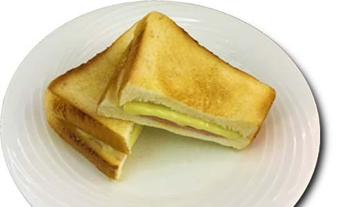 ホットサンドハムチーズ(サラダ付)