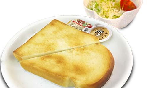 ふわふわ厚切りトースト(サラダ付)
