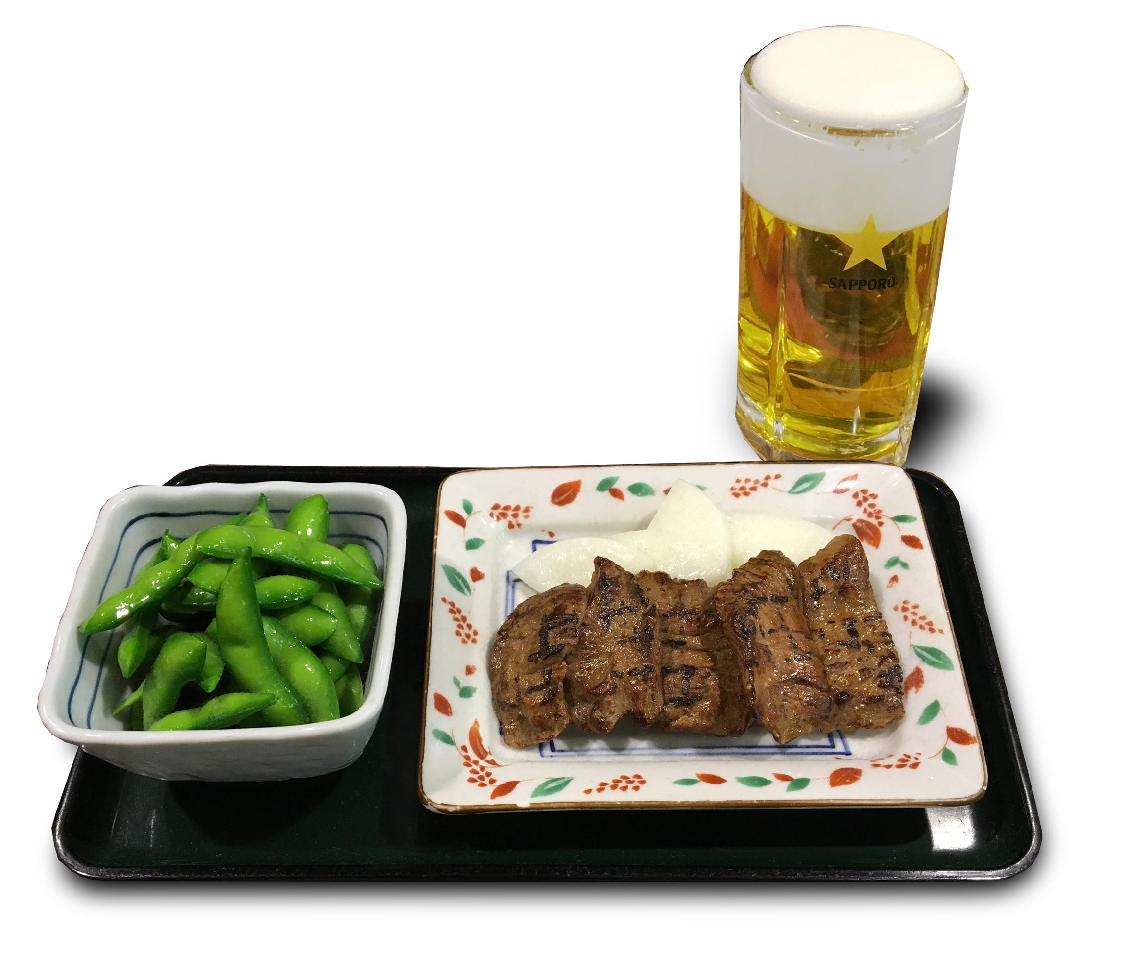 牛たん生ビールセット