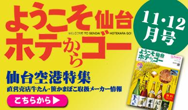 ホテからGO 11・12月号 仙台空港特集