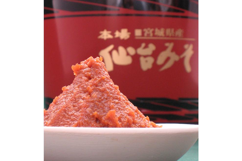 政宗みそ(赤味噌・粒味噌)/横山味噌醤油店